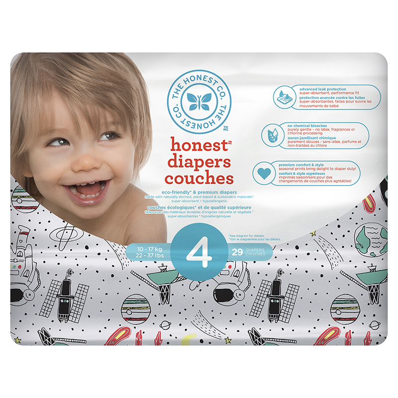 The Honest Company Honest Diapers - Size 4 - 29s - Space Print