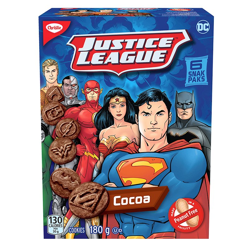 Christie Justice League Cookies - Cocoa - 6 Pack