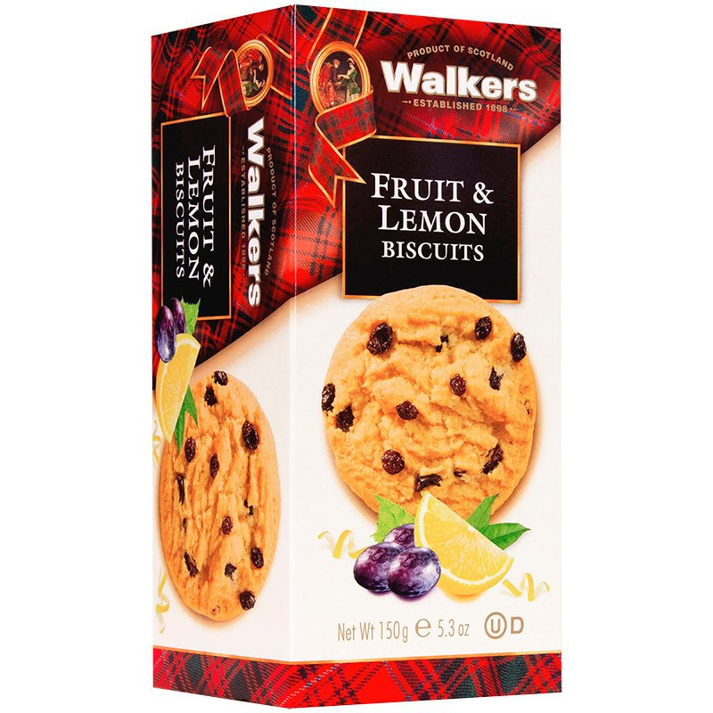 Walkers Fruit & Lemon Biscuits - 150g