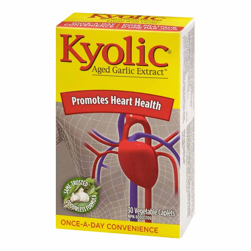 Kyolic Once a Day Odourless Aged Garlic Extract - 30 caplets