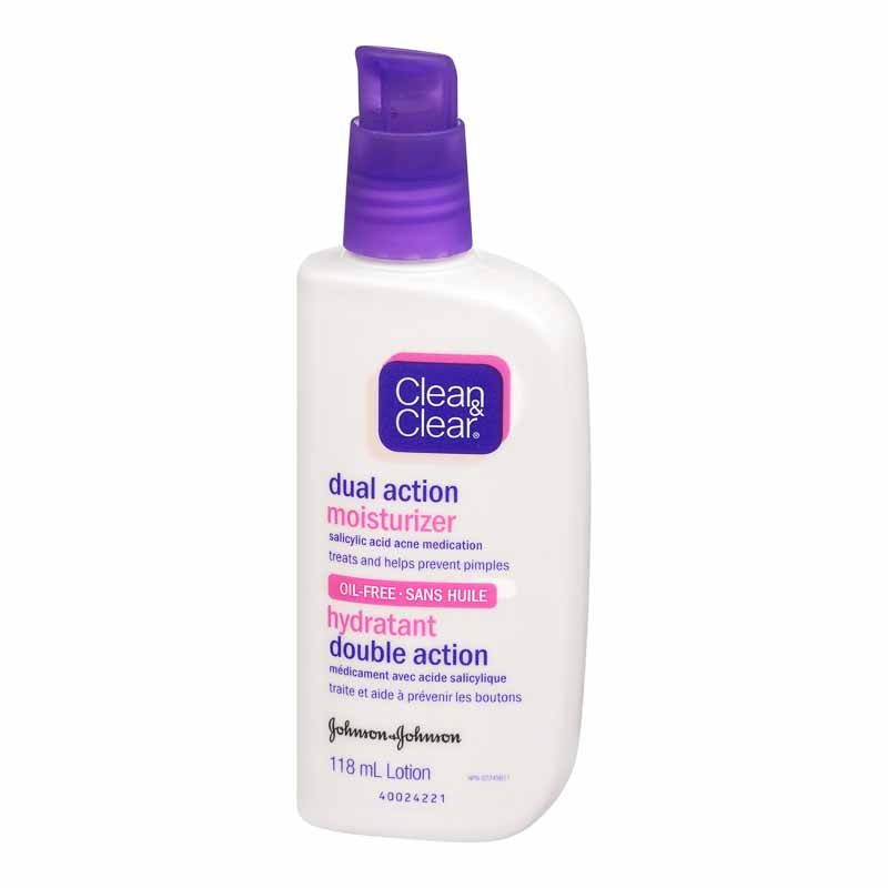 Clean & Clear Dual Action Moisturizer - 118ml