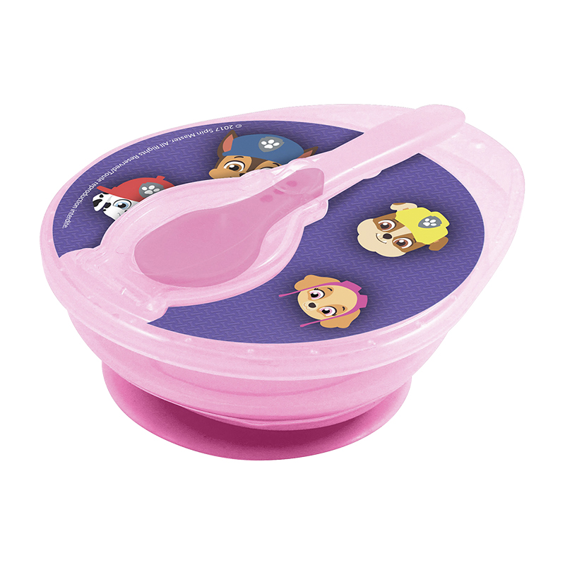 Paw Patrol Girl's Suction Bowl and Spoon Set