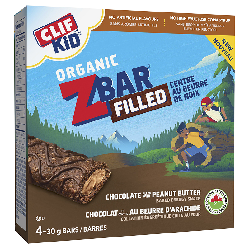 Clif Kid Organic Zbar - Chocolate Peanut Butter - 4 Pack