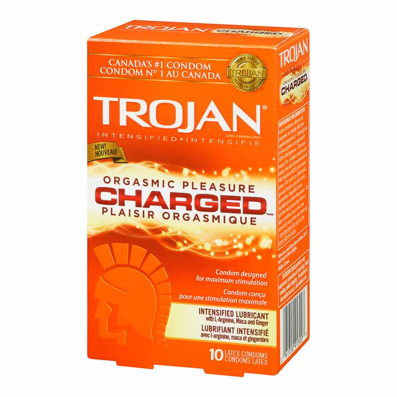 Trojan Charged Lubricated Condoms - 10's