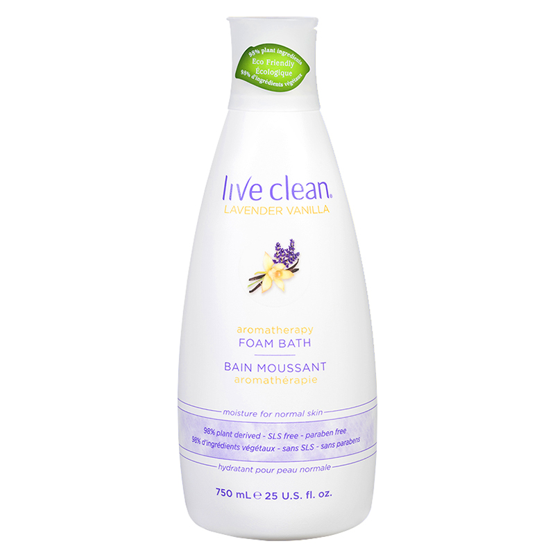 Live Clean Foam Bath - Lavender Vanilla - 750ml
