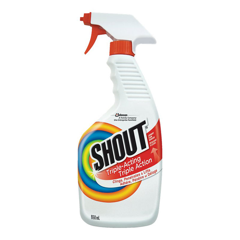 Shout Triple Acting Laundry Stain Remover Trigger Spray - 650ml