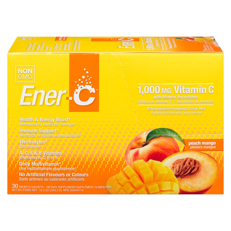 Ener-C Daily Multivitamin Drink Mix with 1000mg Vitamin C - Peach Mango - 30's