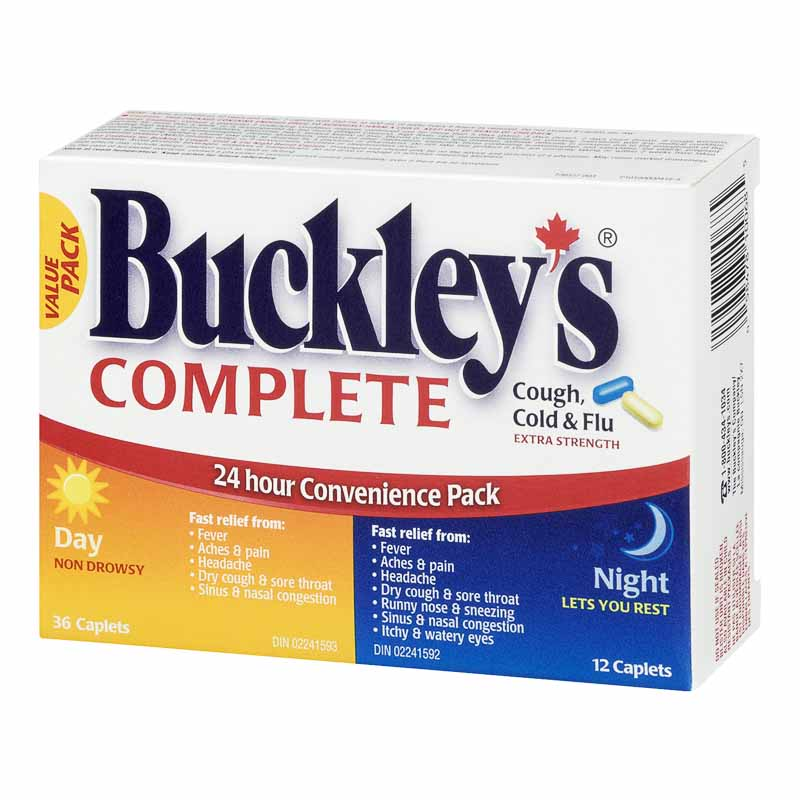 Buckley's Cough, Cold & Flu 24-Hour Relief Pack - Extra Strength - 48's