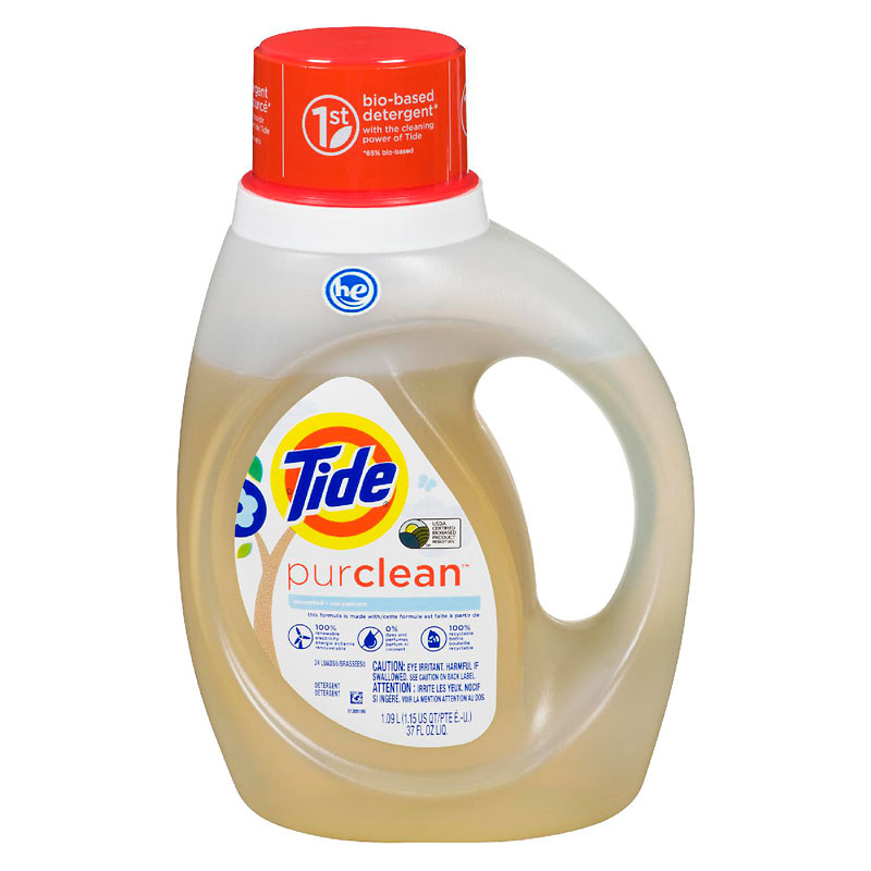 Tide Purclean Laundry Detergent - Unscented - 1.09L