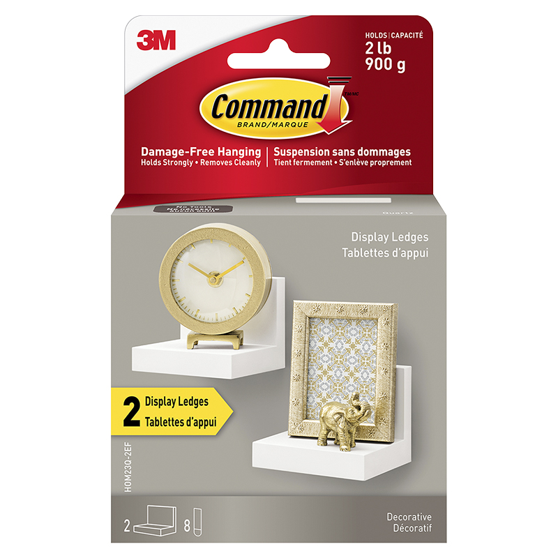 3M Command Display Ledges - White - 2 pack