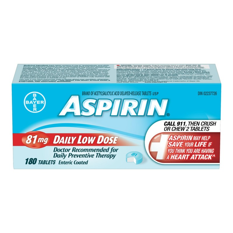 Bayer Aspirin Daily Low Dose - Enteric Coated - 81mg/180's