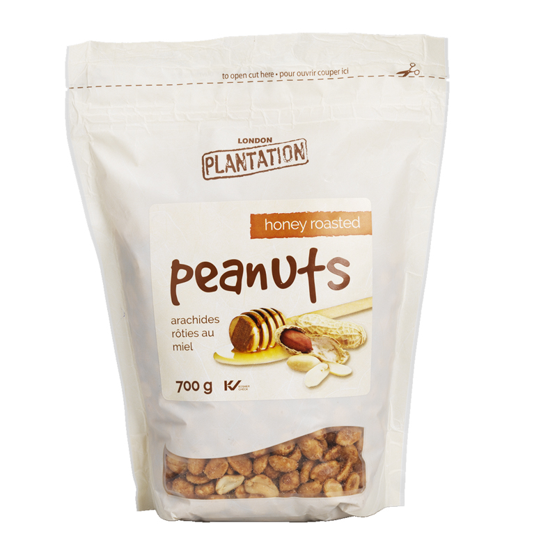 London Plantation Peanuts - Honey Roasted - 700g