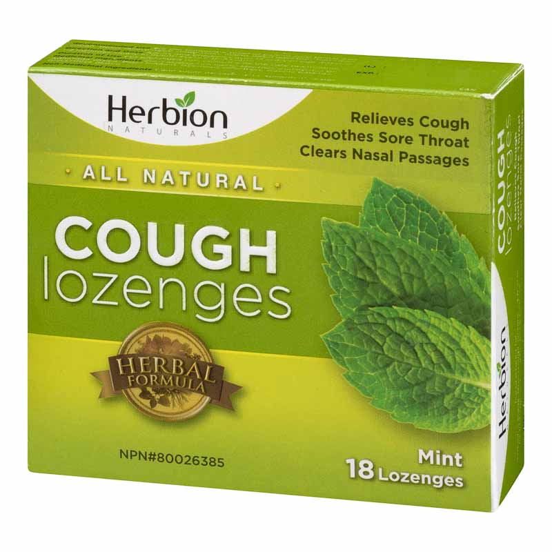 Herbion All Natural Cough Lozenges - Mint - 18's