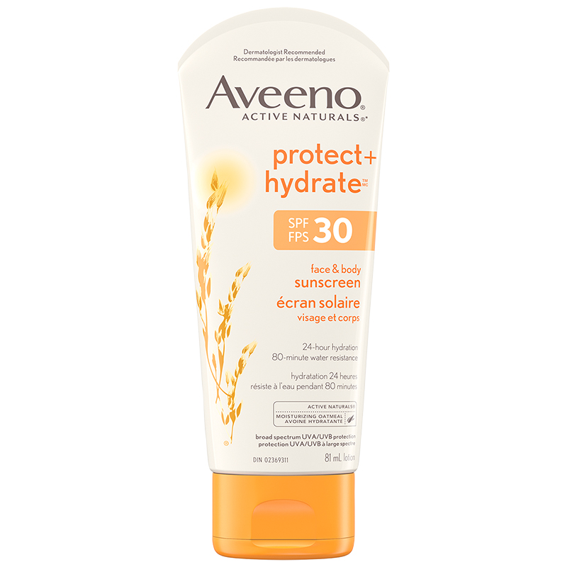 Aveeno Protect + Hydrate Lotion Sunscreen with Broad Spectrum SPF 30 - 81ml
