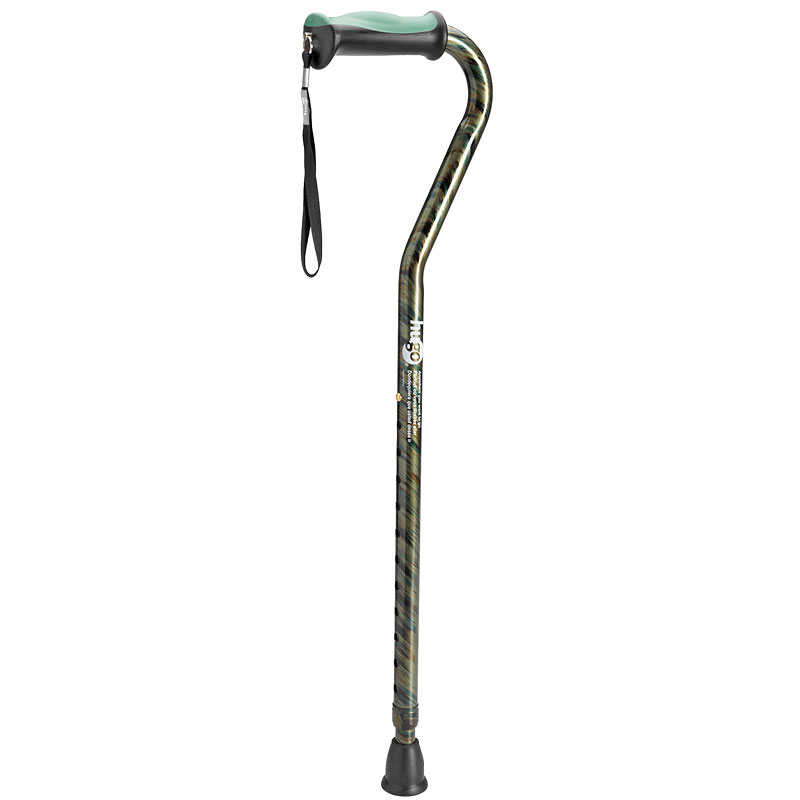 Hugo Offset Handle Cane - Rainforest