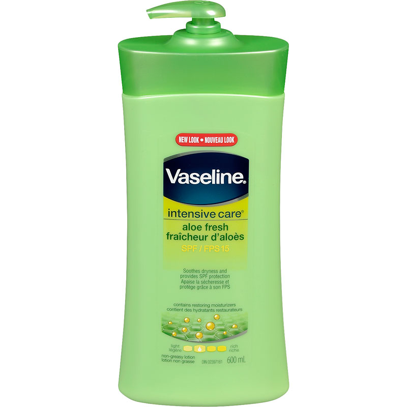 Vaseline Intensive Care Aloe Vera Lotion with SPF 15 - 600mL