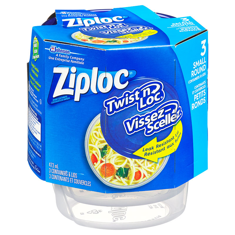 Ziploc Twist 'n Loc - Small - 3 Containers & Lids