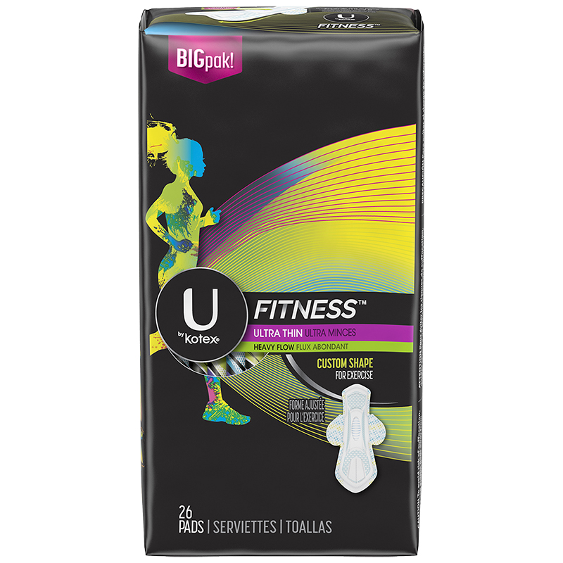 U by Kotex Fitness Ultra Thin Pads - Heavy Flow - 26's