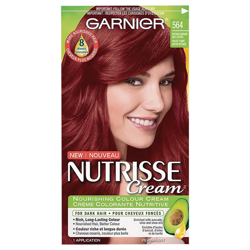 Garnier Nutrisse Cream Permanent Hair Colour - 564 Intense Medium Red Copper