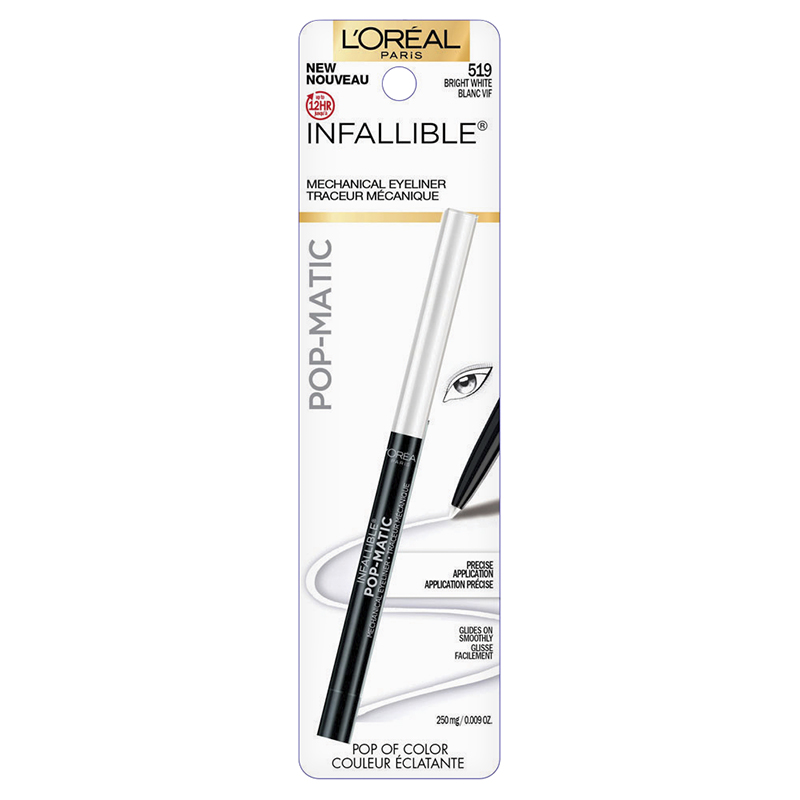 L'Oreal Infallible Pop-Matic Mechanical Eyeliner - Bright White