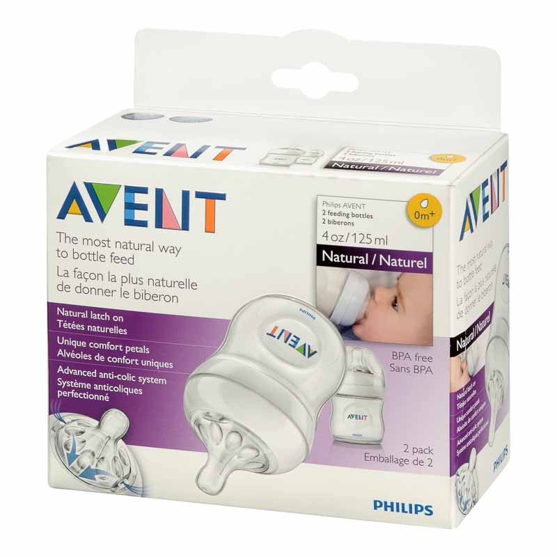 Avent Natural Bottles - 2 x 125ml