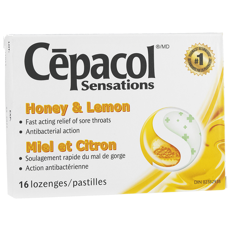 Cepacol Sensations Lozenges - Honey Lemon - 16's