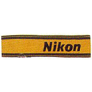 Nikon AN6Y Wide Nylon Neck Strap - Yellow - 4507