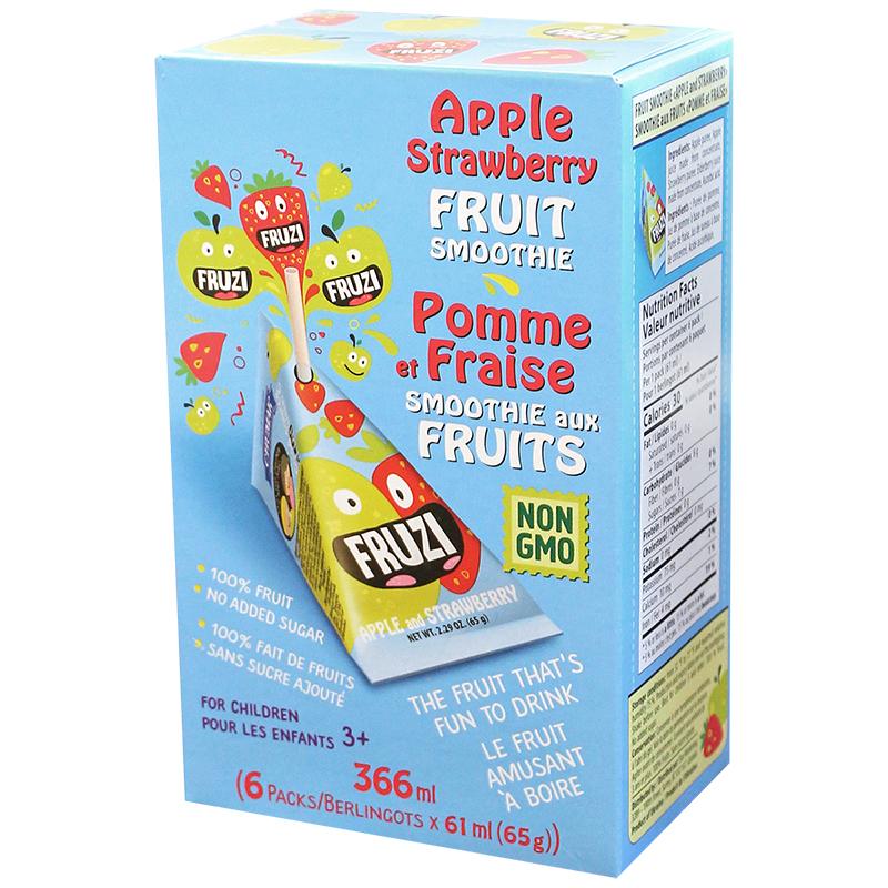 fruzi fruit apple  sberry 6x65g