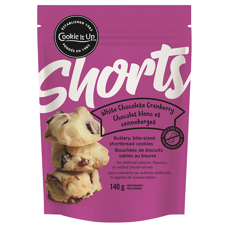 Shorts Shortbread Cookies - White Chocolate Cranberry - 140g
