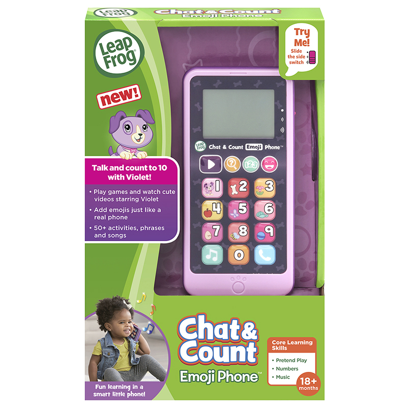 LeapFrog Violet Chat And Count Emoji Phone - Pink
