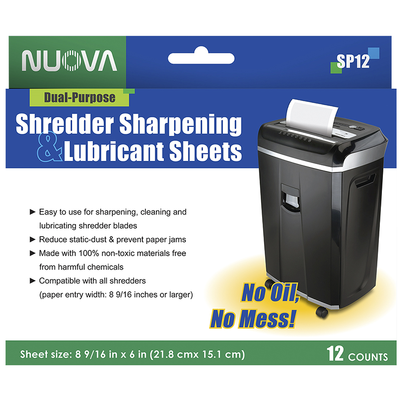 Nuova Shredder Sharpening & Lubricant Sheets - 12's - SP-12