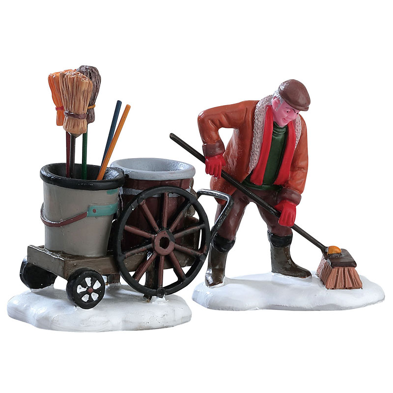 Lemax Street Sweeper - 2 piece