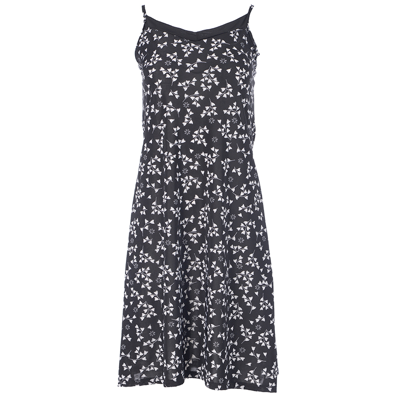 Lava A-Line Printed Dress - Black Combo