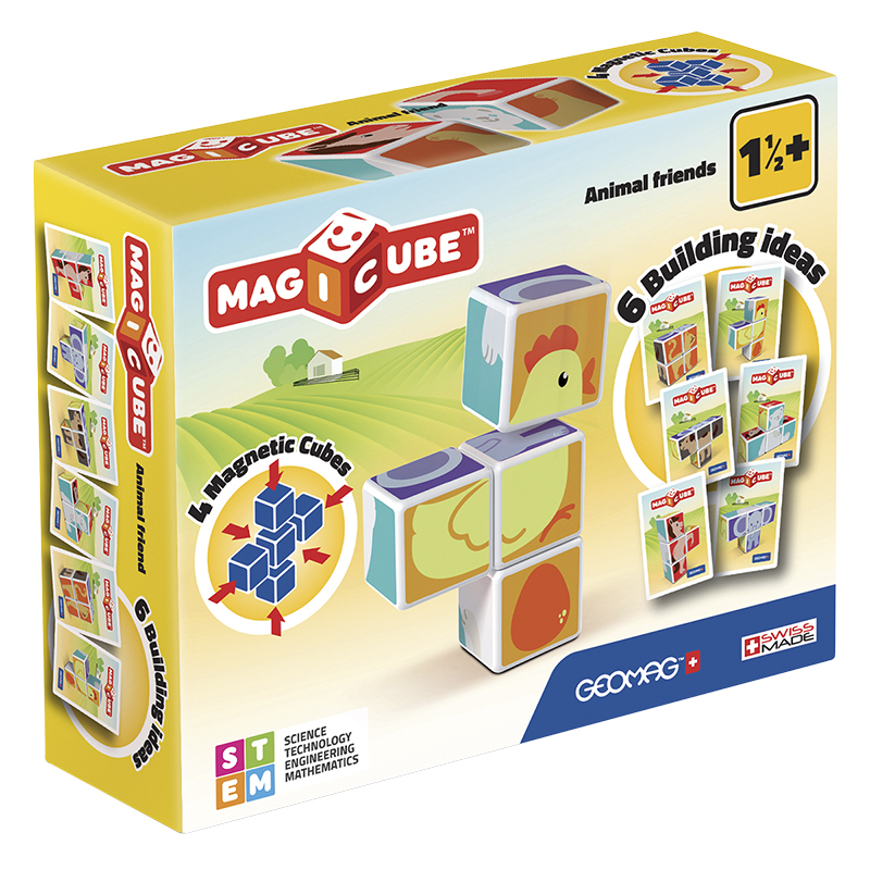 Geomag Magicube Animal Friends - 4 Piece
