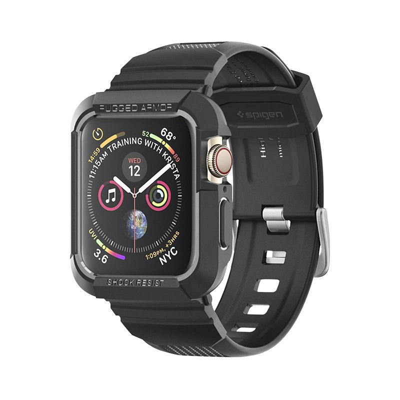 finest selection 21fdc e1b75 Spigen Rugged Armor Pro for Apple Watch Series 4 - 44mm - Black -  SGP062CS25324