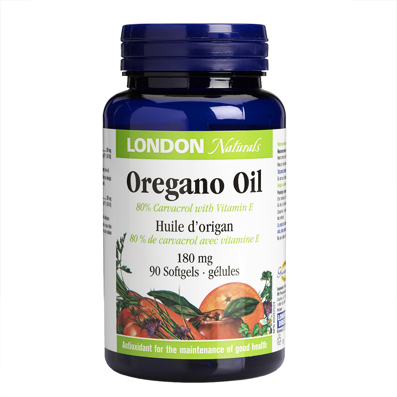 London Naturals Oregano Oil Softgels - 80 carbacrol/180mg - 90's