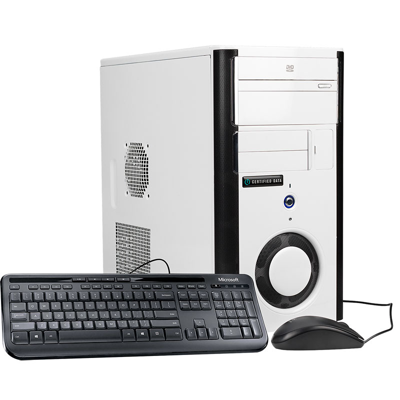 Certified Data Intel Core i7-7700 Gaming Desktop Computer - GTX 1060 - H270M