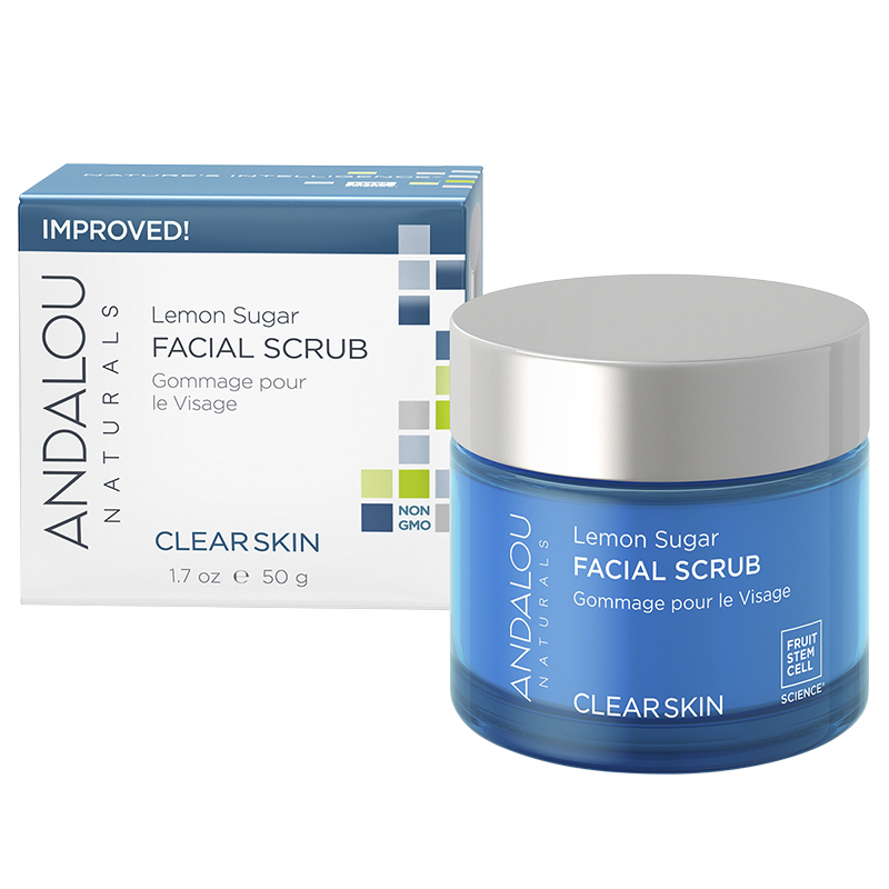 Andalou Naturals Lemon Sugar Facial Scrub - 50ml