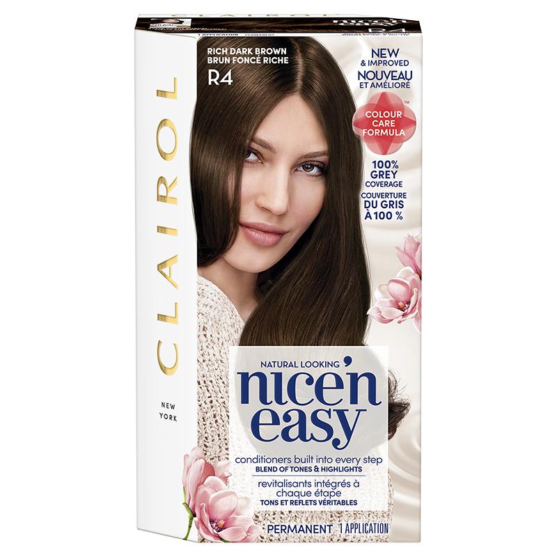 Clairol Nice n Easy Permanent Hair Colour - R4 Rich Dark Brown ... f9f34ae86045