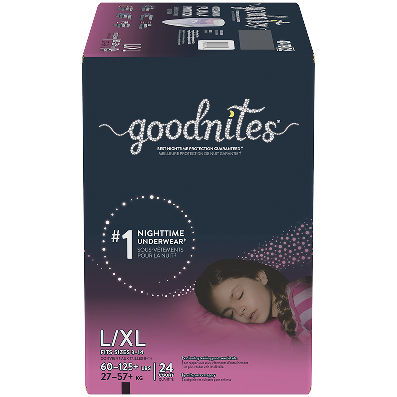 GoodNites Underwear for Girls - Large/Extra Large - 24's