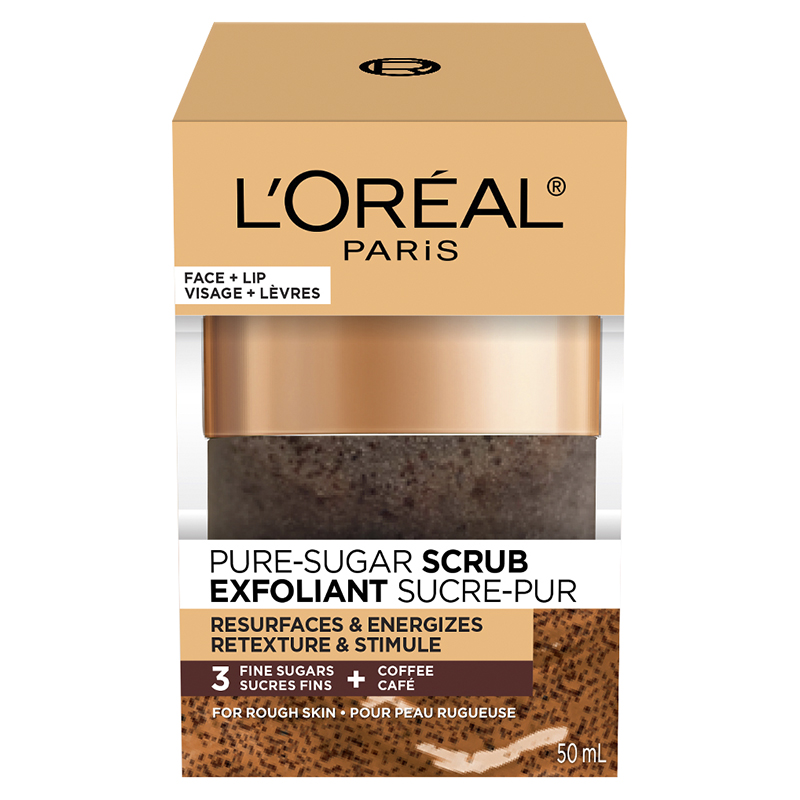 L'Oreal Pure-Sugar Scrub - Resurfaces & Energizes - 50ml
