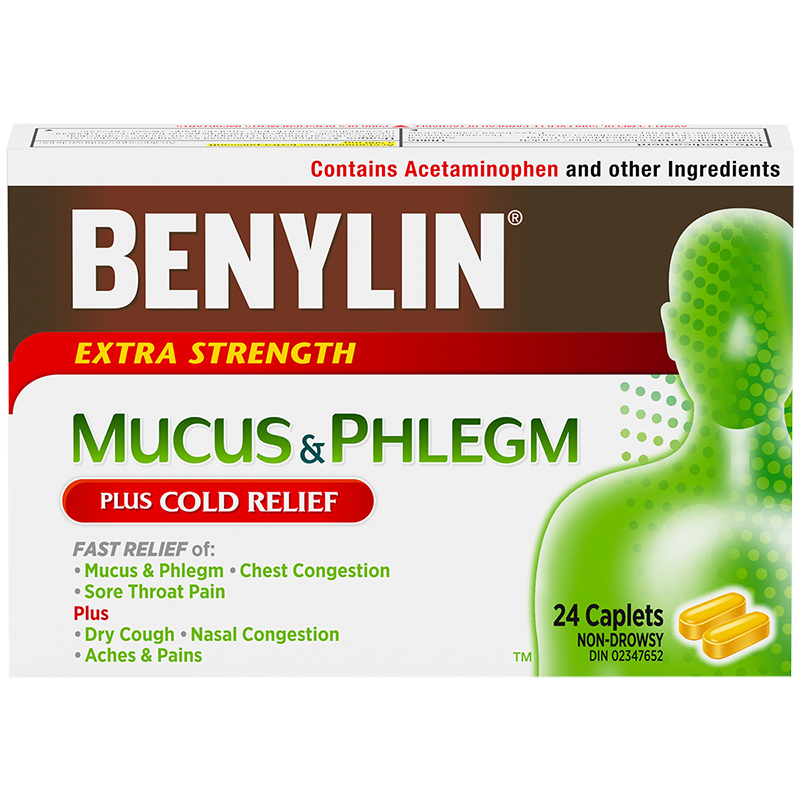 Benylin Extra Strength Cold Mucus & Phlegm Relief - 24's