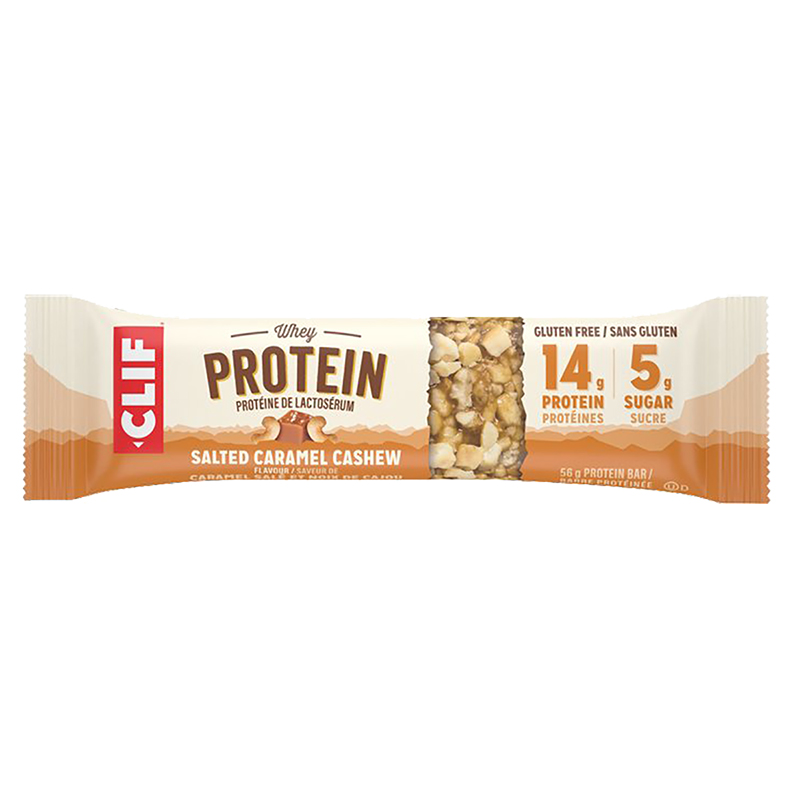 Clif Whey Protein Bar - Salted Caramel Cashew - 56g