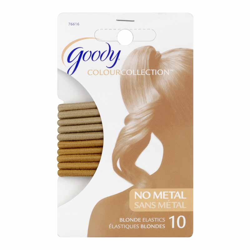 Goody Colour Collection Elastics - 4mm Blonde - 10 pack