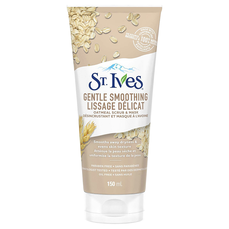 St. Ives Smooth & Nourished Oatmeal Scrub + Mask - 150ml