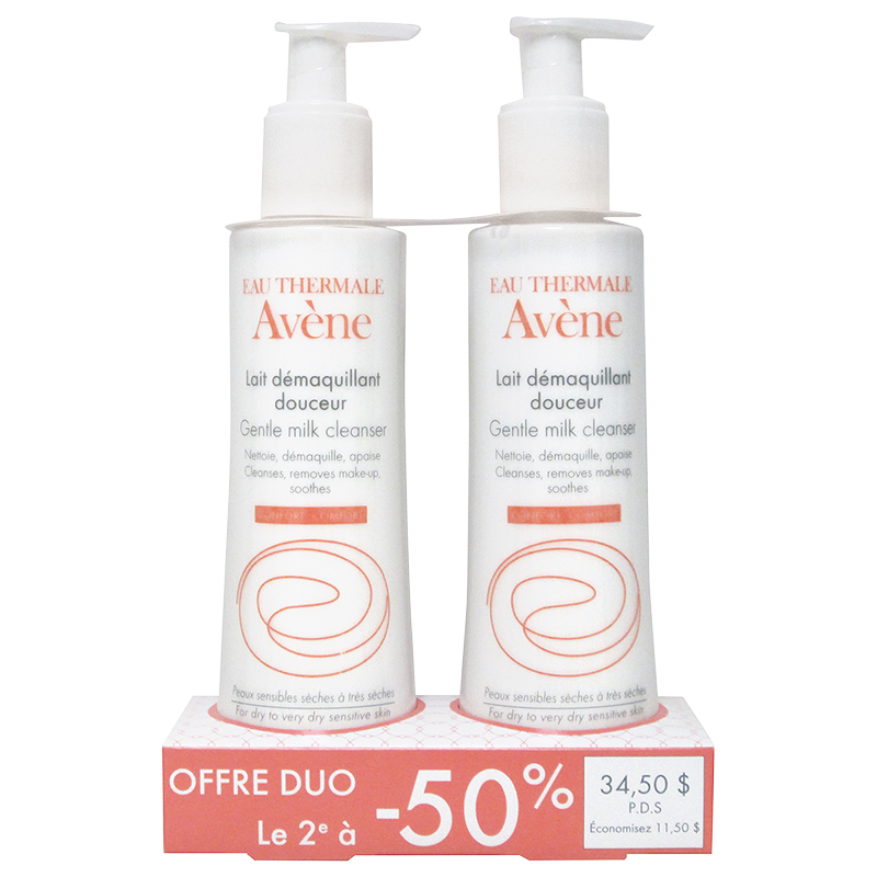 Avene Duo Gentle Milk Cleanser - 2x200ml