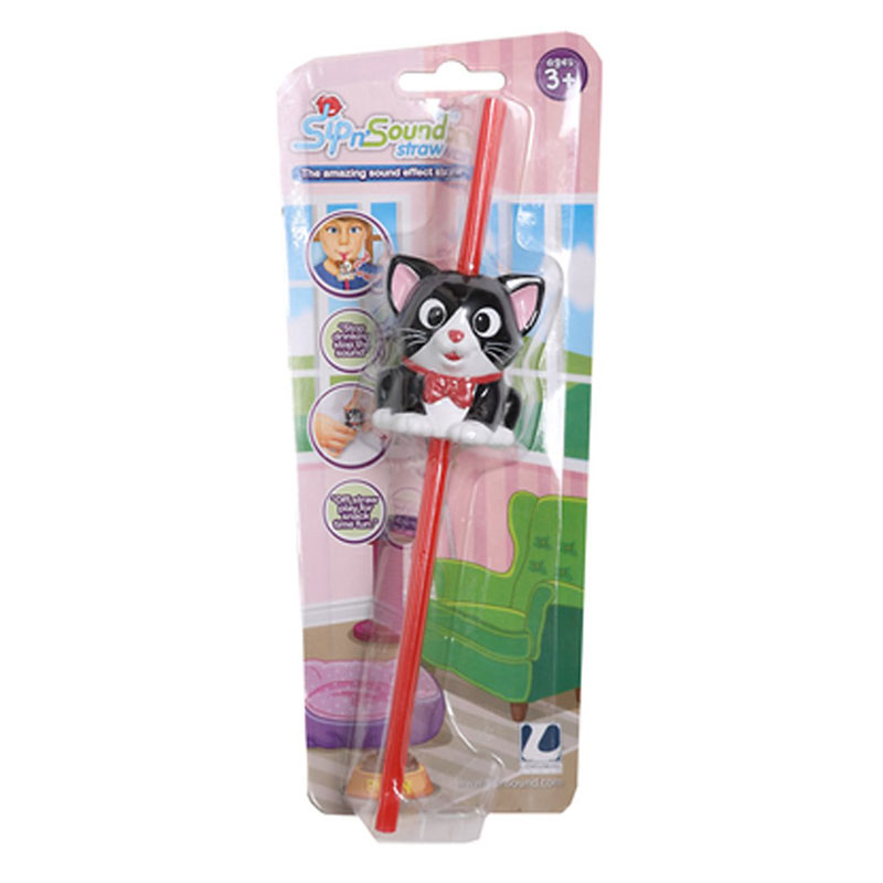Sip N Sound Straw - Dog/Cat - Assorted