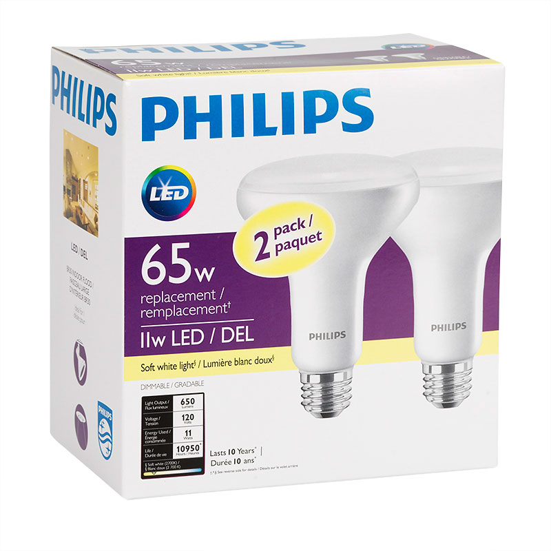Philips LED BR30 Light Bulb - Soft White - 11w