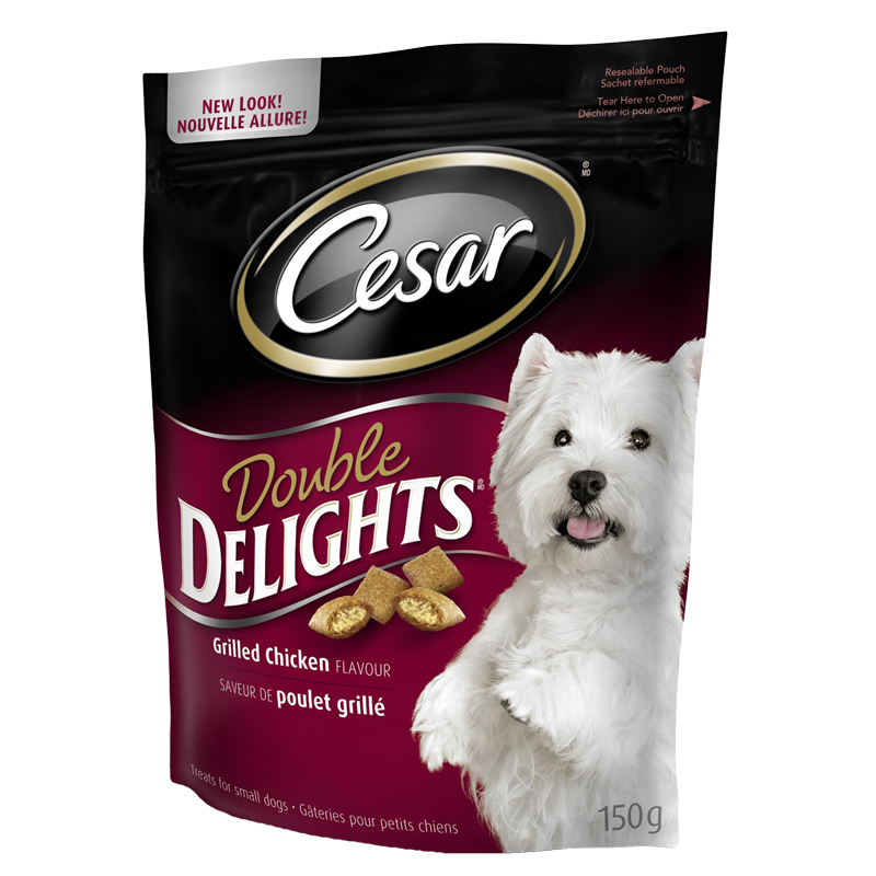 Cesar Double Delights for Dog - Grilled Chicken Flavour Treats - 150g