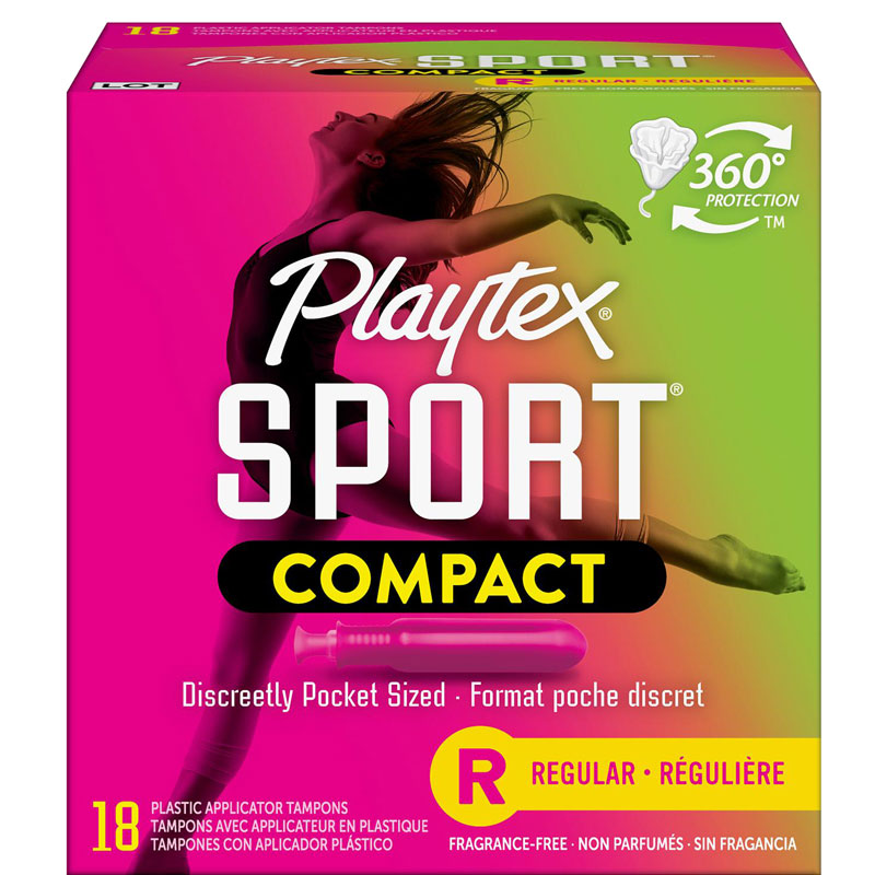 Playtex Sport Compact Tampons - Regular - 18's